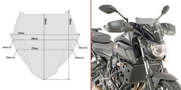 Resim Givi A2140 Yamaha MT-07 18-19 Rüzgar Siperlik