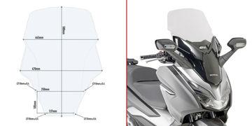 Resim Givi D1166ST Honda Forza 125-250 18-19 Rüzgar Siperlik
