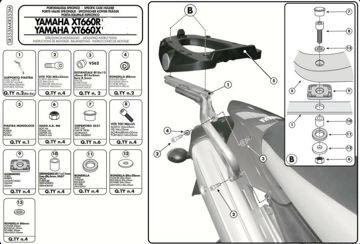 Resim Givi SR353M Yamaha XT 660R - XT 660X 04-06 Arka Çanta Taşıyıcı