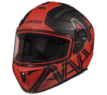 Resim Axxis Kask Draken Dekers Motosiklet Kaskı Mat Siyah Kırmızı