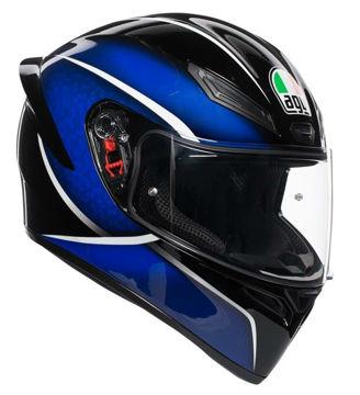 Resim AGV K1 Multi Qualify Kapalı Motosiklet Kaskı Siyah Mavi