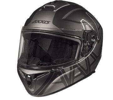 Resim Axxis Kask Draken Dekers Motosiklet Kaskı Mat Siyah Gri