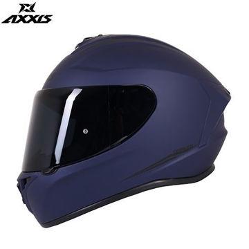 Resim Axxis Kask Draken Motosiklet Kaskı Mat Mavi