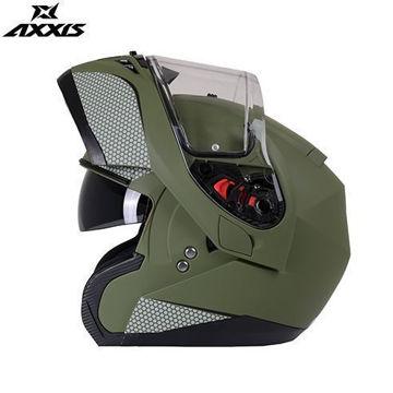 Resim Axxis Roc SV Çene Açılır Motosiklet Kaskı Mat Yeşil