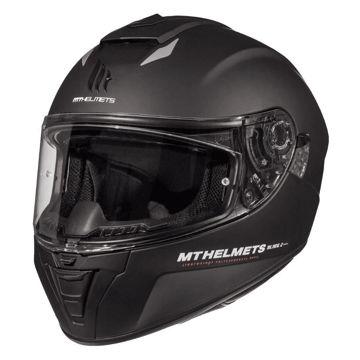 Resim MT Kask Blade 2 SV Solid A1 Kapalı Motosiklet Kaskı Mat Siyah