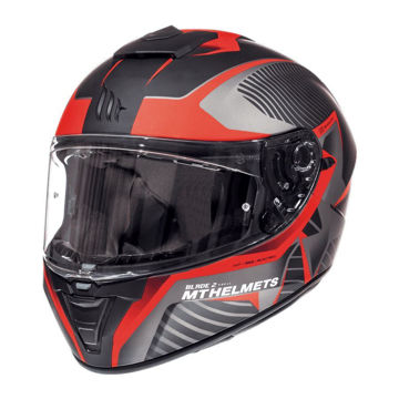 Resim MT Kask Blade 2 SV Blaster B2 Kapalı Motosiklet Kaskı Mat Siyah Kırmızı