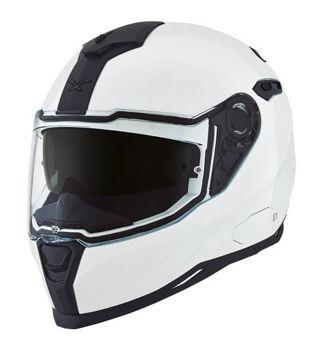 Resim NEXX SX100 Kapalı Motosiklet Kaskı Parlak Beyaz