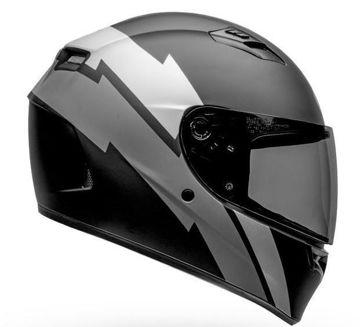 Resim BELL Qualifier Raid Kapalı Motosiklet Kaskı Mat Siyah Gri
