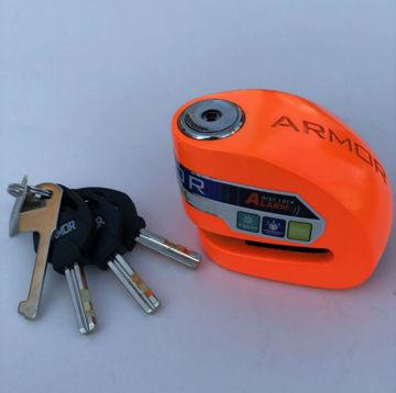 Resim Armor 10 mm Alarmlı Disk Kilidi Turuncu