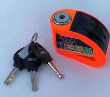 Resim Armor 6 mm Alarmlı Disk Kilidi Turuncu