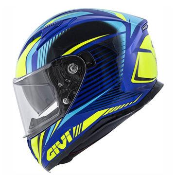 Resim Givi Stoccarda Glade Kapalı Motosiklet Kaskı Mavi Sarı