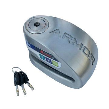 Resim Armor 10 mm Alarmlı Disk Kilidi Gri