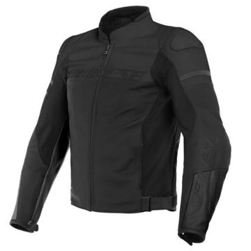 Resim Dainese Agile Deri Motosiklet Ceketi Mat Siyah