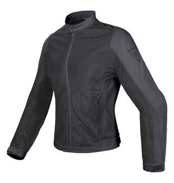 Resim Dainese Air Flux D1 Tex Kadın Yazlık Motosiklet Ceketi Siyah