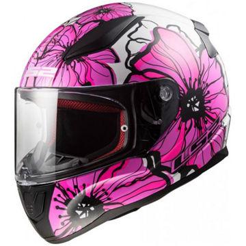 Resim LS2 Rapid Poppies Motosiklet Kaskı Pembe