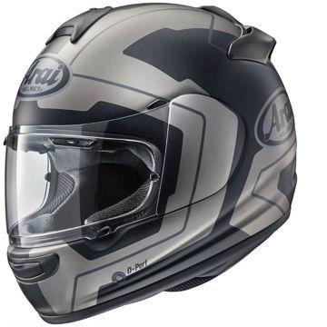 Resim Arai Axces 3 Line Mat Siyah Gri Kapalı Motosiklet Kaskı