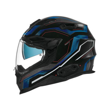 Resim NEXX X.WST 2 Supercell Motosiklet Kaskı Siyah Mavi