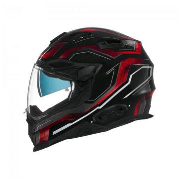 Resim NEXX X.WST 2 Supercell Motosiklet Kaskı Siyah Kırmızı
