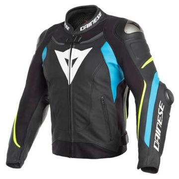 Resim Dainese Super Speed 3 Deri Yarış Ceketi Siyah Mavi
