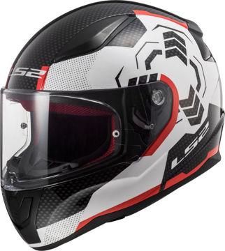 Resim LS2 FF353 Rapid Ghost Kapalı Motosiklet Kaskı Siyah Beyaz Kırmızı