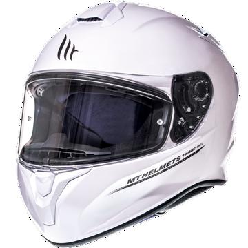 Resim MT Kask Targo Kapalı Motosiklet Kaskı Beyaz
