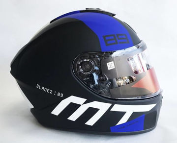 Resim MT Kask Blade 2 SV B7 Kapalı Motosiklet Kaskı Mat Siyah Mavi