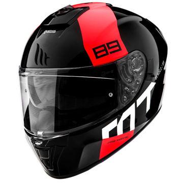 Resim MT Kask Blade 2 SV 89 B5 Kapalı Motosiklet Kaskı Parlak Siyah Kırmızı