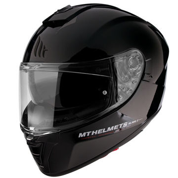 Resim MT Kask Blade 2 SV Solid A1 Kapalı Motosiklet Kaskı Parlak Siyah