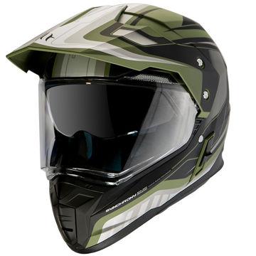 Resim MT Kask Synchrony Duosport SV Tourer Mat Yeşil Motosiklet Kaskı