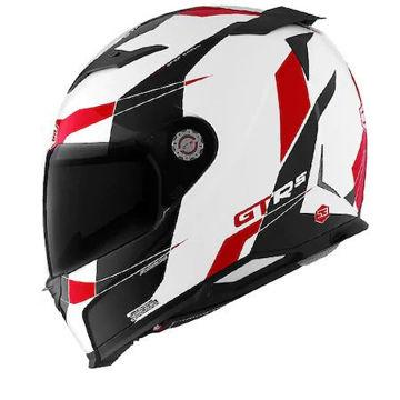 Resim CMS GTRS 3 Speedster Kapalı Motosiklet Kaskı Beyaz Kırmızı Siyah
