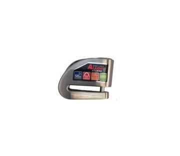 Resim Armor 6 mm Alarmlı Disk Kilidi Siver