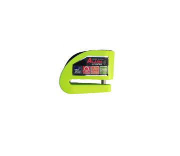 Resim Armor 6 mm Alarmlı Disk Kilidi Neon Yeşil